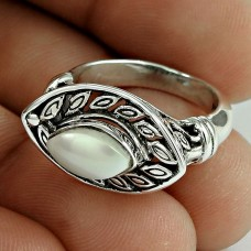 Intrigant!! 925 Sterling Silver Pearl Ring