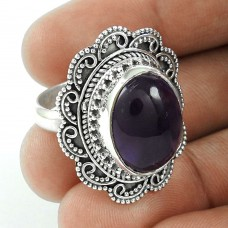 Big Falling In Love!! 925 Sterling Silver Amethyst Ring