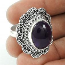 Big Falling In Love!! 925 Sterling Silver Amethyst Ring