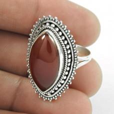 925 Silver Jewellery Beautiful Carnelian Gemstone Ring Manufacturer