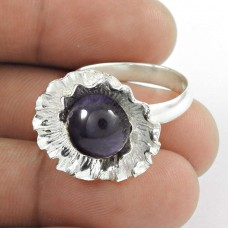Circle of Hope Amethyst Gemstone Silver Ring Jewellery