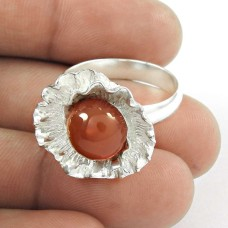 New Exclusive Style!! 925 Sterling Silver Carnelian Ring