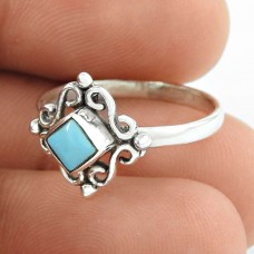 Hot Selling Turquoise Gemstone Silver Ring Jewellery