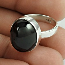 Ethnic Black Star Gemstone Silver Ring Jewellery Fournisseur
