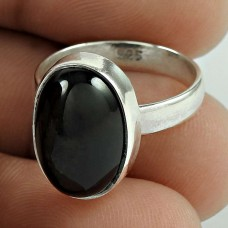 My Sweet Black Star Gemstone Silver Ring Jewellery