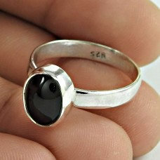 Best Selling Black Star Gemstone Silver Ring Jewellery