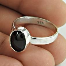 Best Selling Black Star Gemstone Silver Ring Jewellery