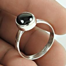 Classy Black Star Gemstone Silver Ring Jewellery