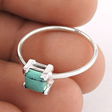 Popular Design Turquoise Gemstone Silver Ring Jewellery Wholesale