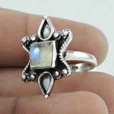 Stunning Rainbow Moonstone Silver Ring Jewellery