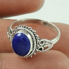 Modern Style ! Lapis Gemstone Sterling Silver Ring Wholesaler