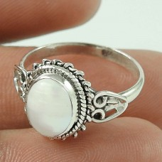Elegant ! Natural Pearl Sterling Silver Ring