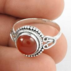 Beauty Queen ! Carnelian Gemstone Silver Ring Jewellery Supplier India