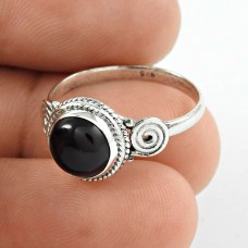 Passion ! Black Onyx Gemstone Silver Ring Jewellery Exporter
