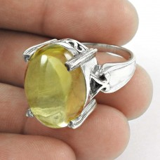 Antique Citrine Gemstone Silver Jewellery Ring