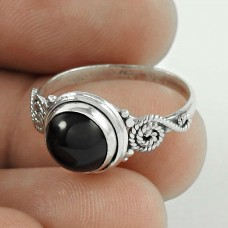 New Awesome ! Black Onyx Gemstone Silver Ring Jewellery