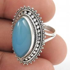 First Sight Chalcedony Gemstone Silver Jewellery Ring