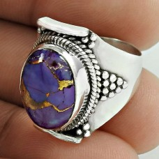 Wholesaler ! Purple Copper Turquoise Gemstone Silver Ring Jewellery Supplier India