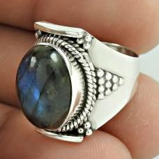 Excellent ! Labradorite Gemstone Silver Ring Jewellery