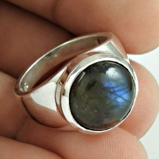 Breathtaking Labradorite Gemstone Sterling Silver Ring Jewellery