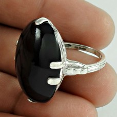 Briliance Black Onyx Gemstone Sterling Silver Ring Jewellery