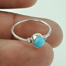 Shine Turquoise Gemstone Silver Jewellery Ring Großhandel