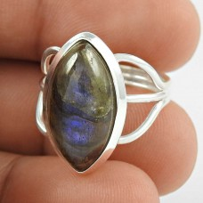 So In Love Labradorite Gemstone Silver Jewellery Ring Exporter India
