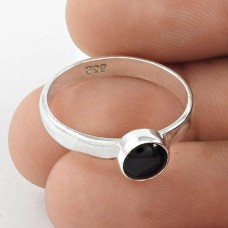 Summer Stock ! Black Onyx Gemstone 925 Sterling Silver Ring Manufacturer