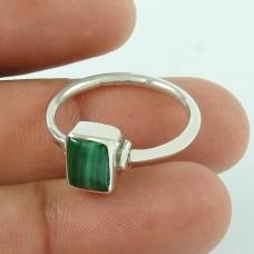 Handy Malachite Gemstone 925 Sterling Silver Fashion Ring Jewellery