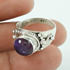 Seemly Amethyst Gemstone 925 Sterling Silver Ring Jewellery