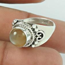 Amusable Aventurine Gemstone 925 Sterling Silver Ring Jewellery