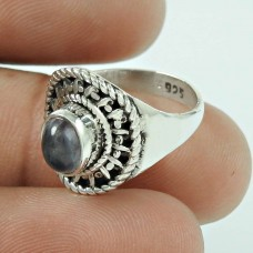 Fashion Iolite Gemstone 925 Sterling Silver Antique Ring Jewellery