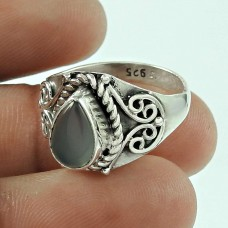 Scrumptious Moon Stone 925 Sterling Silver Ring Jewellery