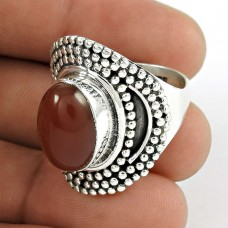 Shine ! 925 Sterling Silver Carnelian Ring