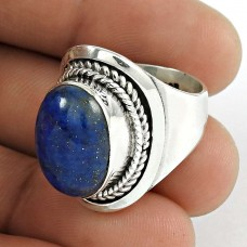 Indian Silver Jewellery Rare Lapis Gemstone Ring