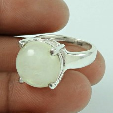 Daily Wear Rainbow Moonstone 925 Sterling Silver Ring Jewellery