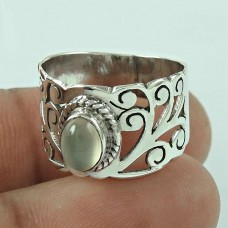 Handy 925 Sterling Silver Moon Stone Gemstone Ring Ethnic Jewellery