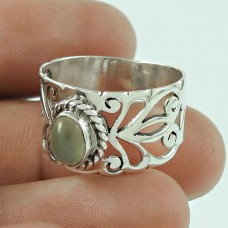 Pleasing 925 Sterling Silver Moon Stone Ring Jewellery