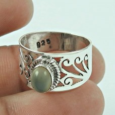 Seemly 925 Sterling Silver Moon Stone Ring Jewellery