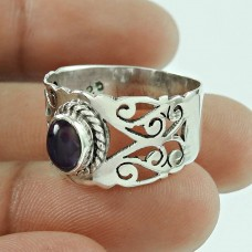 Engaging 925 Sterling Silver Amethyst Gemstone Ring Jewellery