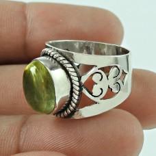 Excellent 925 Sterling Silver Vintage Lemon Quartz Gemstone Ring Jewellery