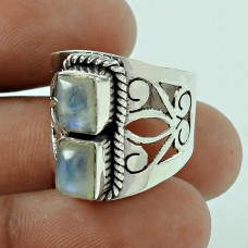 Seemly Rainbow Moonstone 925 Sterling Silver Ring Jewellery