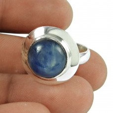 Amusable Kyanite Gemstone Ring 925 Sterling Silver Jewellery