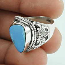 Simple ! 925 Sterling Silver Opal Ring