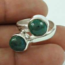 Amazing!! 925 Silver Azurite Malachite Ring