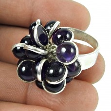 Amethyst Gemstone Ring 925 Sterling Silver Indian Jewellery Exporter India