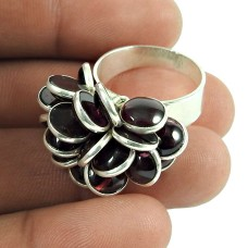 Handy Garnet Gemstone Ring Sterling Silver Fashion Jewellery