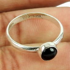 Beautiful Black Onyx Gemstone Sterling Silver Ring 925 Silver Jewellery Wholesale