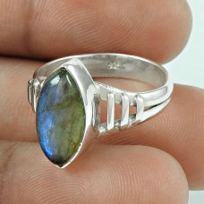 Party Wear Labradorite Gemstone Sterling Silver Ring Sterling Silver Fashion Jewellery Wholesaler