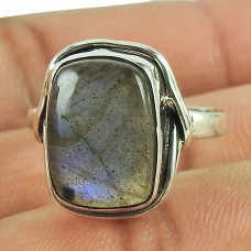 Seemly Labradorite Gemstone Sterling Silver Ring Fine Silver Jewellery